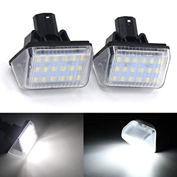 2pcs LED Luz de Matrícula Bombilla Licencia Número Placa Lámparas de Luz para M-azda