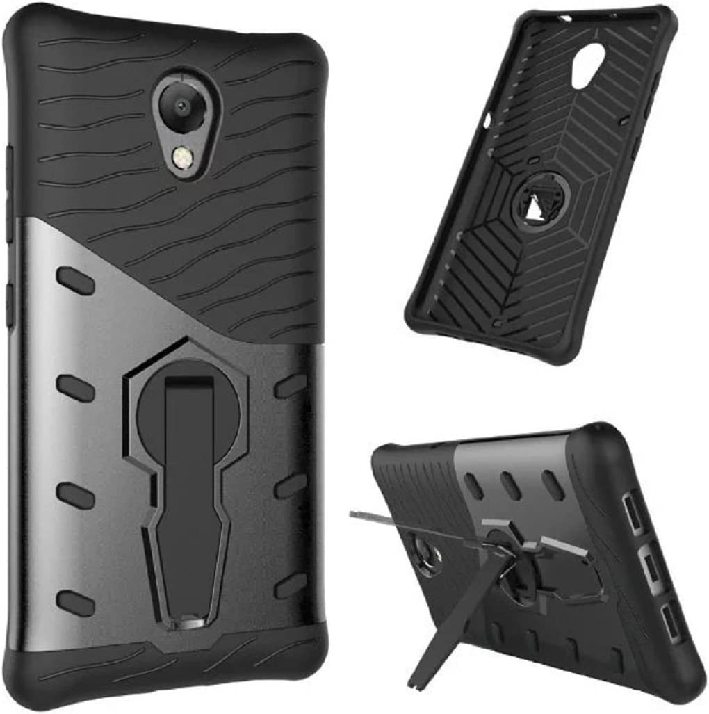 Lenovo Vibe P2 Case, Awesome Armor Foldable Movie Stand Slim Cover, TAITOU New Ultra Hybrid 2 In 1 Thin Anti Scratch Drop KickStand Armour Protect Phone Case For Lenovo Vibe P2 Black
