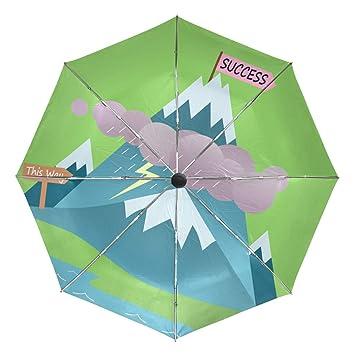 3e1a784dbb25 Amazon.com: Cartoon Success Mountain Travel Umbrella Windproof,Anti ...