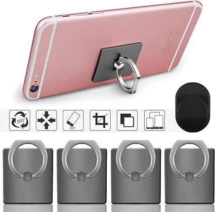 Senhai Handyhalter 4 Pack Universal Smartphone Ring Grip Standplatz Auto Halterungen Für Iphone Ipad Samsung Htc Nokia Smartphones Tablet 4 Schwarz Elektronik
