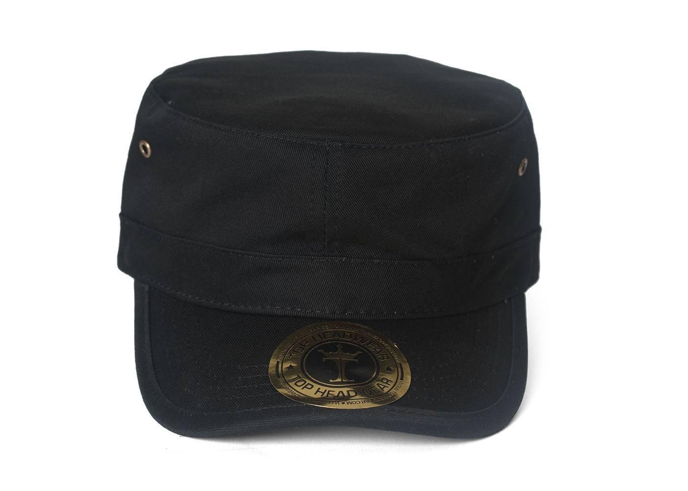 TopHeadwear Basic GI Adjustable Cadet Cap - Black TOP HEADWEAR