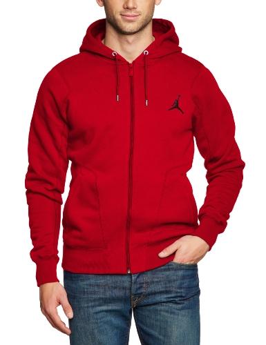Mens Nike Air Jordan 23/7 Full Zip Hooded Sweatshirt Varsity Red/Black 547664-695 Size X-Large