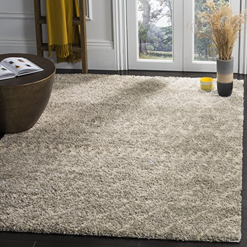 Safavieh Arizona Shag Collection ASG750D Grey and Ivory Area Rug (8' x 10') by Safavieh