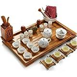 Dehua Porcelain Bamboo Tea Tray Ceramic Kung Fu Tea Set Tea Service (2)