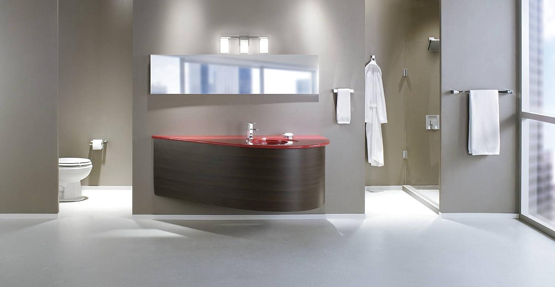 Bathroom vanity light fixtures chrome vanities modern for Modern chrome bathroom vanity lighting