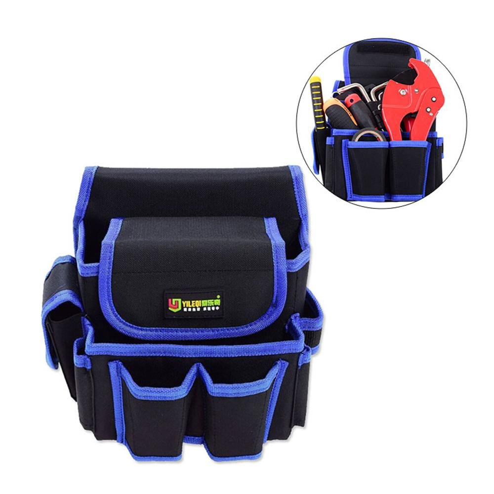 Pawaca Multi-functional Tool Belt Pouch, Wear-resistant Waterproof And Puncture-proof Work Organizer, Electrical Maintenance Tool Pouch Bag Technician's Tool Holder