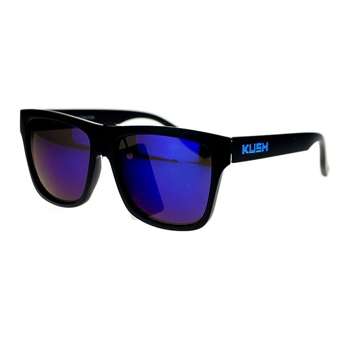 Polarized Premium Kush Color Mirror Rectangular Sport Sunglasses
