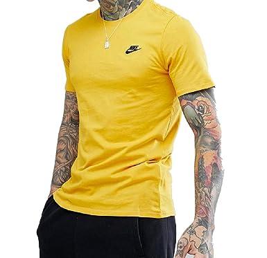 166d5eead560 Nike Club Embro Futura T-Shirt White University Red L Yellow  Amazon.co.uk   Clothing