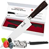Professional 8 Inch Chef Knife Free Sharpener - for Chopping Cooking Gourmet Dishes | High Carbon German Steel Blade Ergonomic handle Knive for Home, Restaurant | Cut Sushi Sashimi Fish Meat Vegetable