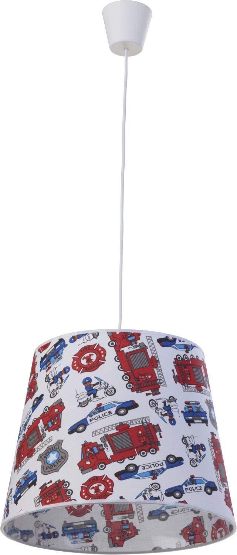Bunte Pendelleuchte Stoff Schirm mit Motiv /Ø38,5cm niedlich KIDS Kinder Lampe Jungs Kinderzimmer Beleuchtung