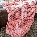 Chunky Giant Knit Throw Blanke
