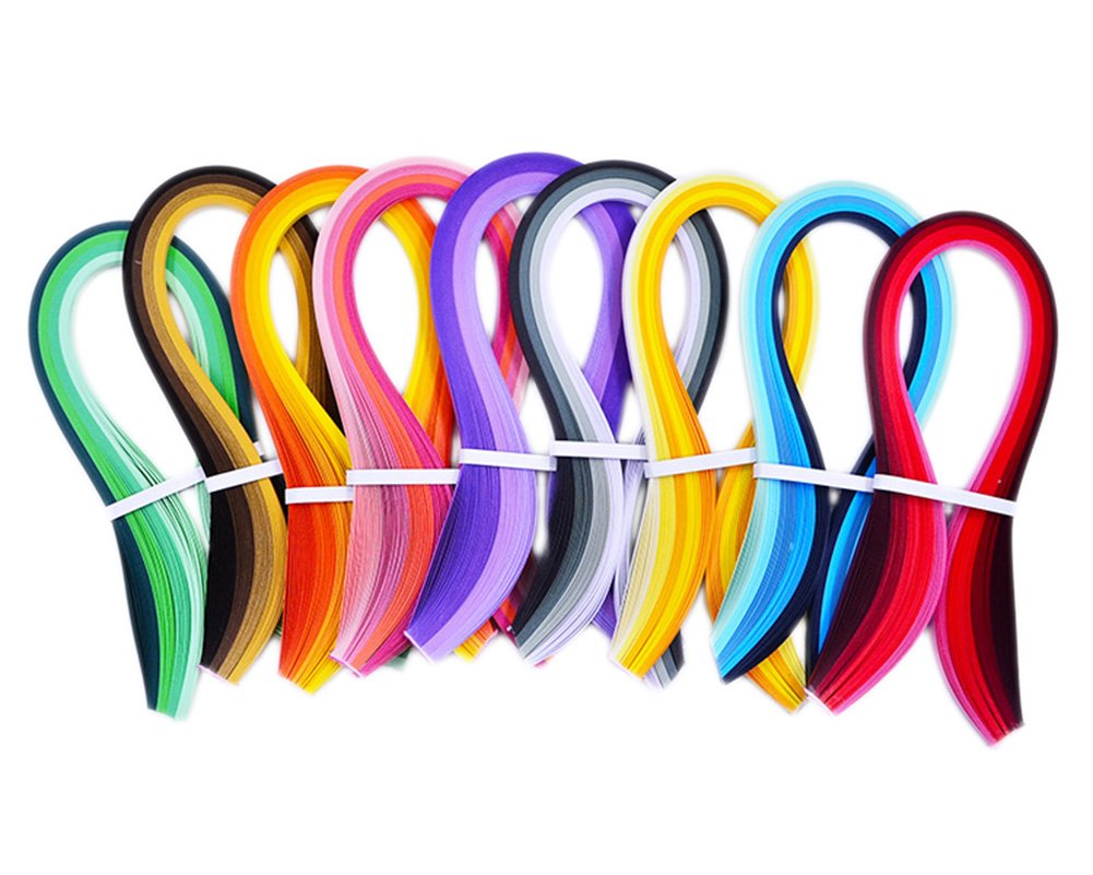 9 Colors Series Width 900 Strips 3mm // Length Hosaire Paper Quilling Strips Set 39cm for Arts and Crafts Projects