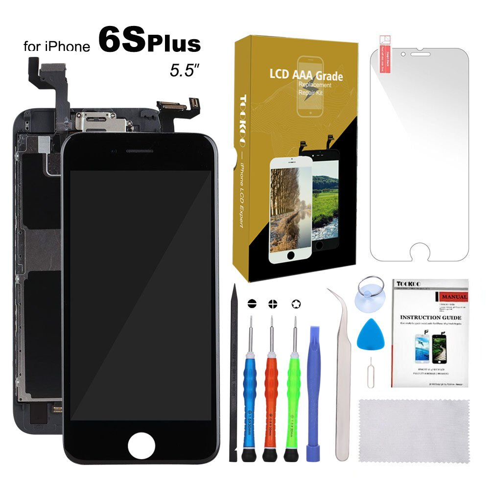 huge discount 49183 3870e for iPhone 6S Plus Screen Replacement Black 5.5