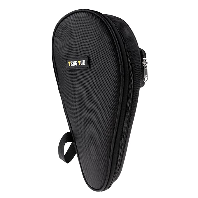 c7aee5afb75 Amazon.com   Homyl Professional Table Tennis Racket Case Bag, Ping Pong  Paddle Bat Container Carry Cover With Balls Pocket - Black   Sports    Outdoors