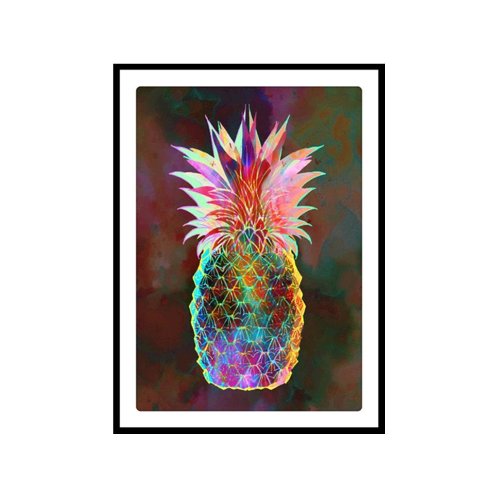 Qisuw DIY 5D Diamond Painting(Pineapple)-Staron Full Drill Embroidery Rhinestone Painting Cross Stitch Colorful Dream Kit Wall Art Decor by Number Kits Home Decor