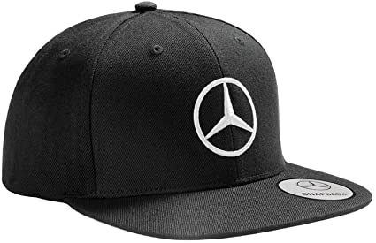 Mercedes Benz Gorra original con visera plana, color negro: Amazon ...