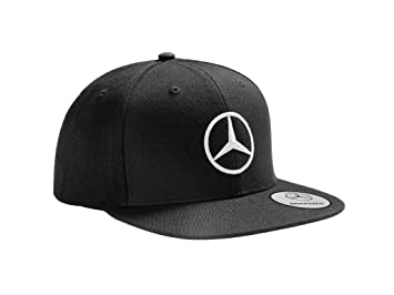Mercedes Benz Gorra original con visera plana, color negro: Amazon.es: Coche y moto