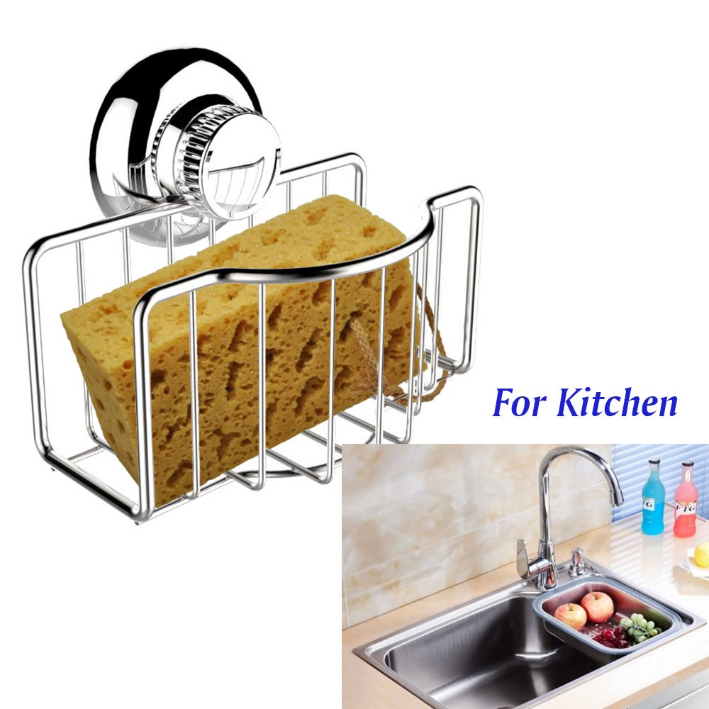 Amazon.com: STAINLESS STEEL SPONGE HOLDER FOR KITCHEN SINK WITH NON ...
