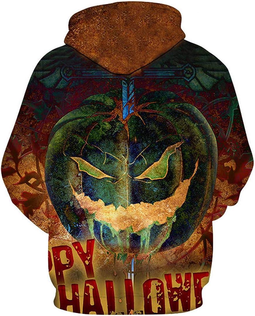Fashion Halloween 3D Hooded Sweatshirt Print Skull Thin Hoody Tracksuit
