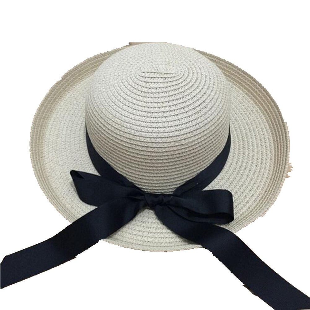 Women's Sun Hat Straw Beach Cap Panama Fedora for Travel Swimming Vacation