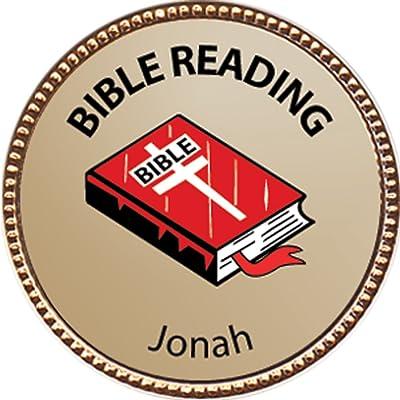 Keepsake Awards Jonah Bible Reading Award, 1 inch Dia Gold Pin Bible Reading Achievements Collection: Toys & Games