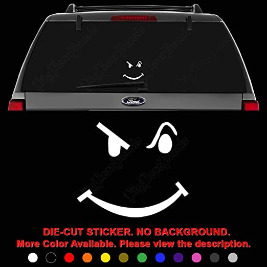 Interior Smiley Face Window Decal 3 00 Car Window Decals Window Decals Car Stickers