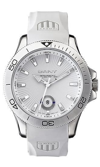 GANT W10722 - Reloj de caballero de cuarzo, correa de caucho color blanco