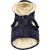 vecomfy Fleece and Cotton Lining Extra Warm Dog Hoodie in Winter,Small Dog Jacket Puppy Coats…