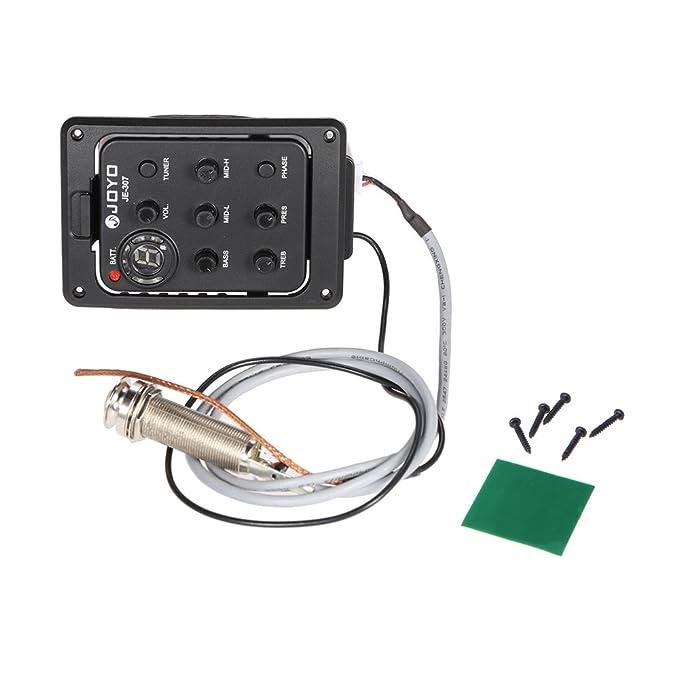 ammoon JOYO JE-307 5-Band EQ Ecualizador Acústico Preamplificación de la Guitarra Piezo Pickup Tuner: Amazon.es: Instrumentos musicales