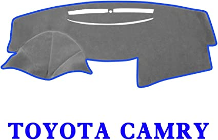 JIAKANUO Auto Car Dashboard Dash Board Cover Mat Fit for Toyota Camry 2007-2011 Black-Blue MR027