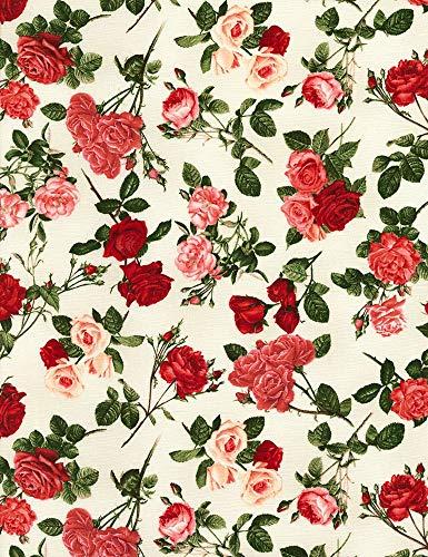 Timeless Treasures Rose Garden Cream Roses