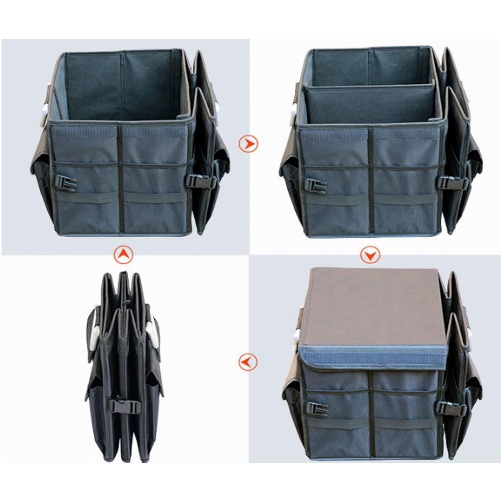 Car Storage Box Car Storage Box Trunk Storage Box Multi-Function Shape Folding Car Storage Box Glove Box (Color : Gray, Size : L) by Cxp Boutiques-Car Boot Bags (Image #3)