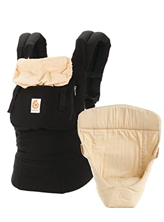 1576a52c091 Amazon.com   Ergobaby 3 Position Original Bundle Of Joy with Easy Snug  Infant Insert - Black Camel   Baby