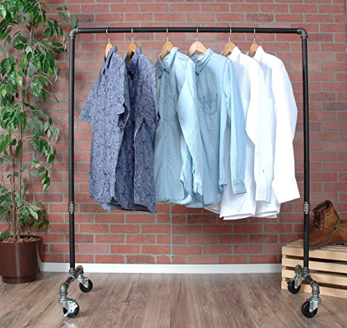 Industrial Pipe Rolling Clothing Rack by William Robert's Vintage by William Roberts Vintage