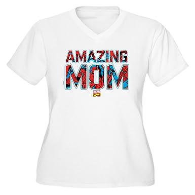 c50666c6dd CafePress Spider Man Mom Plus Size T Shirt Women's Plus Size V-Neck T-