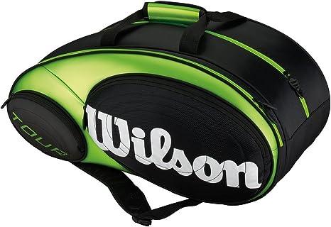 Wilson Padel Tour - Raquetero, Color Negro/Lima, Talla NS: Amazon ...