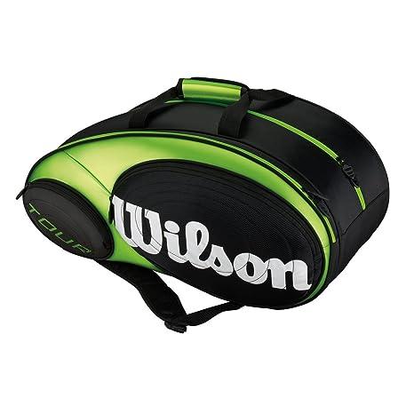Wilson Padel Tour - Raquetero, Color Negro/Lima, Talla NS ...