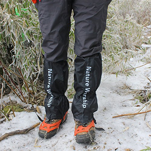 NATURE WORSHIP Gaiters Waterproof For Men and Women Snow Hiking Skiing Running Hunting Leg Covers by NATURE WORSHIP (Image #5)