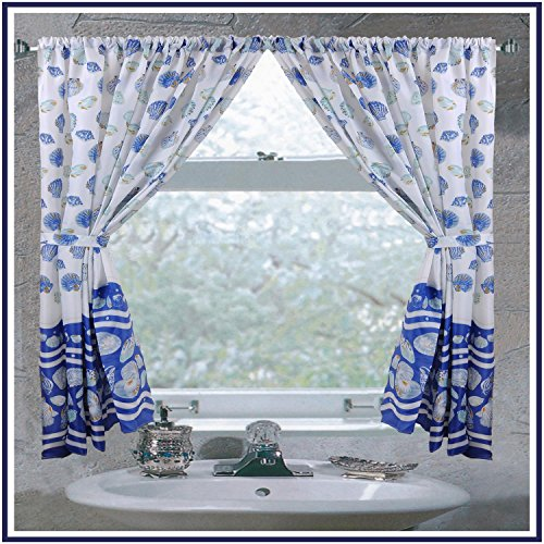 Carnation FWC-SB/01 South Beach Fabric Curtain Light Blue