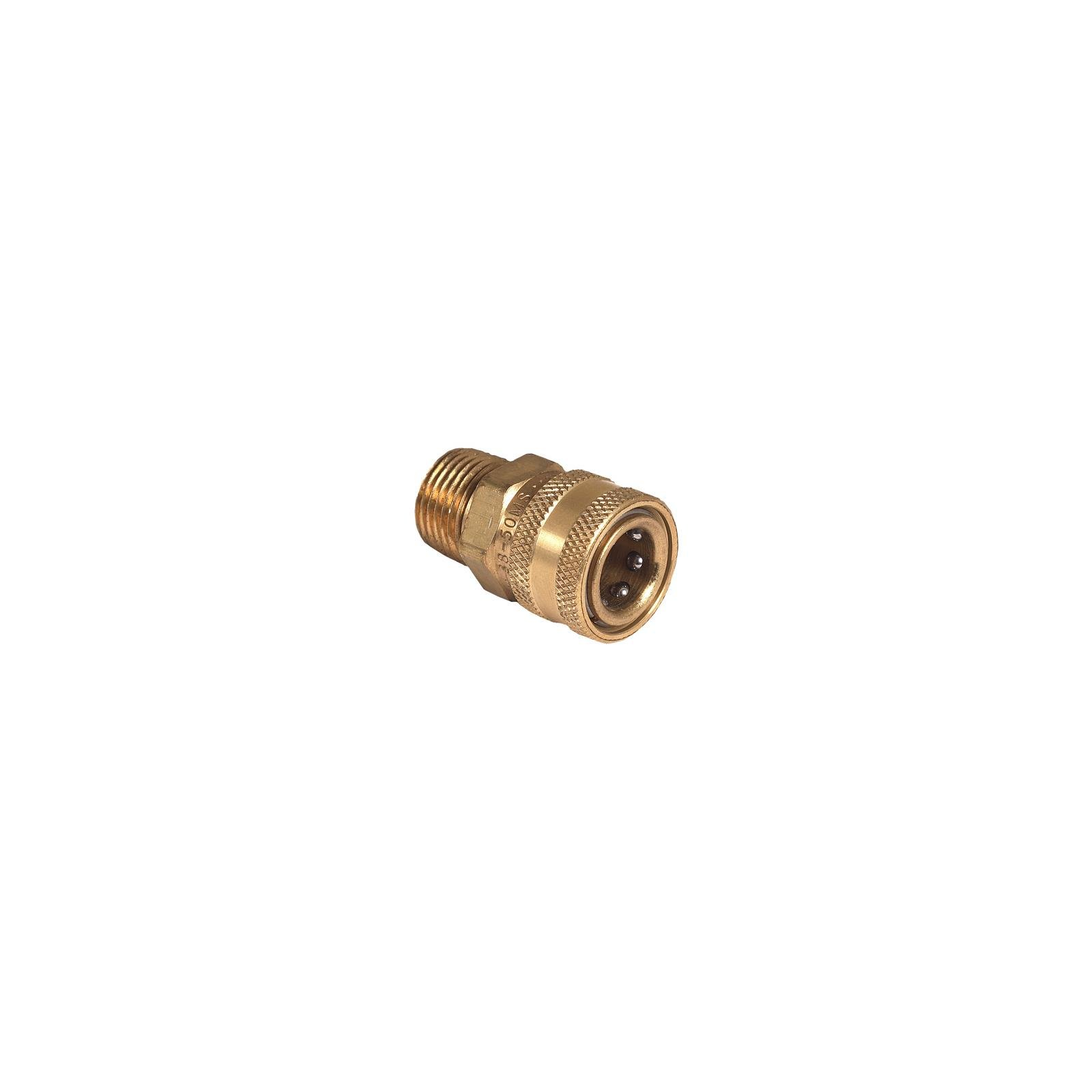 Mi T M AW-0017-0029 Pressure Washer Quick Connect Socket, Brass, 1/2 MNPT x 3/8-In. - Quantity 4