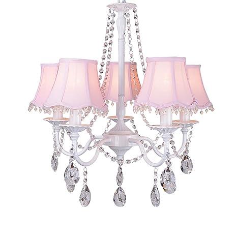 Princess room lampadario rosa cristallo lampada a sospensione a soffitto  per sala da pranzo camera da
