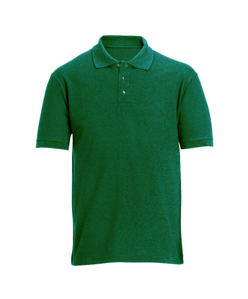 Alexandra STC-W605BO-L Stud Front Work Polo Shirt 100/% Polyester Bottle Green Large Plain