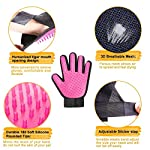 [Upgrade] 2-in-1 Pet Glove:Grooming Tool/Pet Hair Remover Mitt with Enhanced Five Finger Design–Effective Cat and Dog…