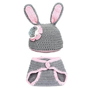 JTC Bébés 0-12 Mois Ensembles Bonnet Vêtement Photographie Déguisement  Crochet en Velours Forme b8a156d249e