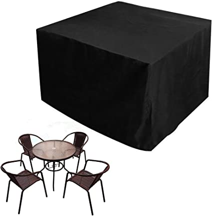 123x123x74cm Black Patio Garden Furniture Cover Waterproof UV Outdoor Rain Snow for Table Chair Sofa Protection
