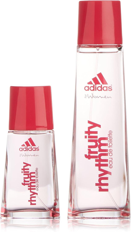a lo largo Integración Desierto  Adidas - Fruity Rhythm - Agua de colonia para mujer con vaporizador - set  75 ml + 30 ml: Amazon.es: Belleza