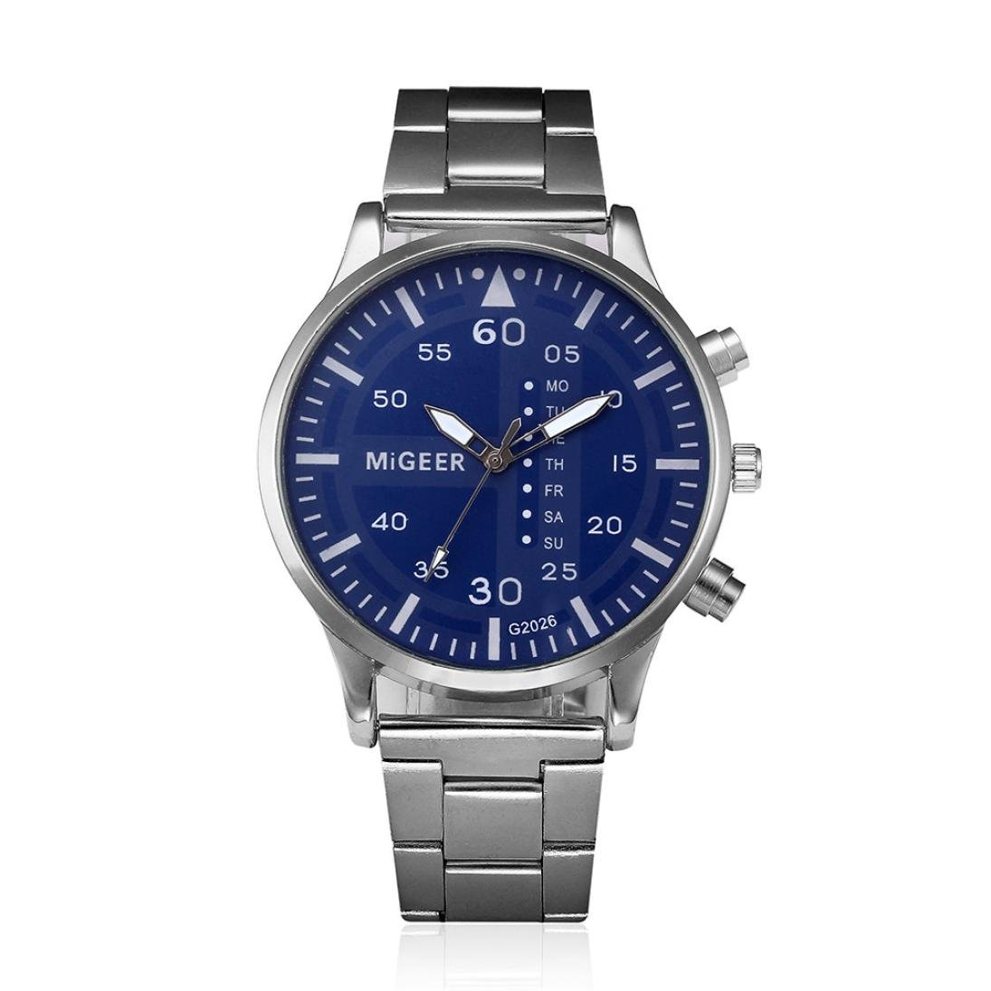 Amazon.com: Napoo Fashion Men Crystal Stainless Steel Analog Quartz Wrist Watch with Black Face Bracelet (Black): Watches