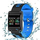 Reloj Pulsera Inteligente Podómetro Monitor de Actividad con Cámara Bluetooth Deportivo IP68 Impermeable con Notificaciones de Mensajería y Llamadas Compatible iOS/Android