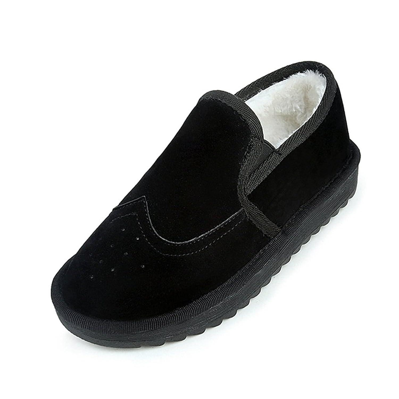 Hatop Women Flat Cotton Shoes Keep Warm Winter Shoes Snow Ankle Boots Shoes