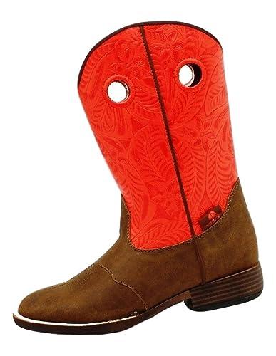 Double Barrel Boys/' Trailboss Cowboy Boot Square Toe 4452001C